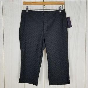 NYDJ Career Fancy High-rise Black Capri Pants